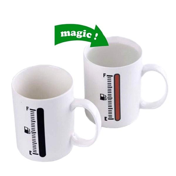 Магическа чаша с индикатор гориво Нестандартна чаша за подарък 300мл