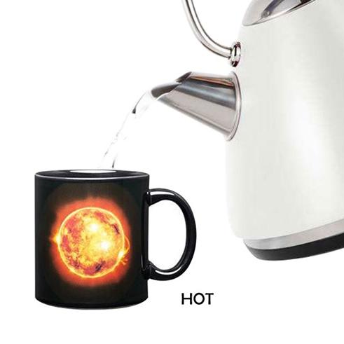 Магическа чаша Слънце и Луна подаръчна чаша променяща дизайна си 300ml