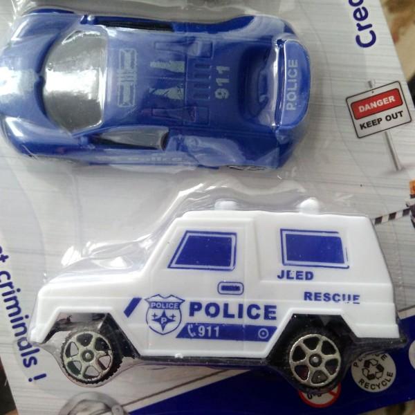 Полицейски колички детски играчки за момче комплект от 4 броя