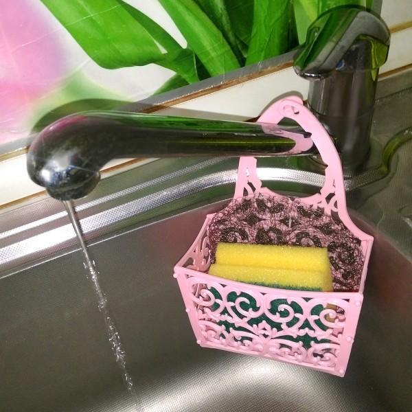 Поставка за гъба за мивка държач органайзер за мивка + гъбичка и телче