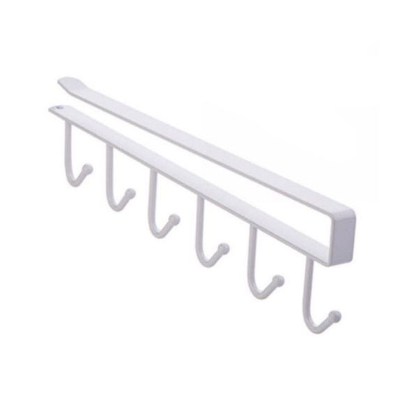 Кухненска метална закачалка за чаши и прибори закачаща се поставка за рафт