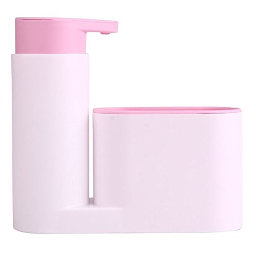 Органайзер за мивка с дозатор за течен сапун поставка за гъба и четка