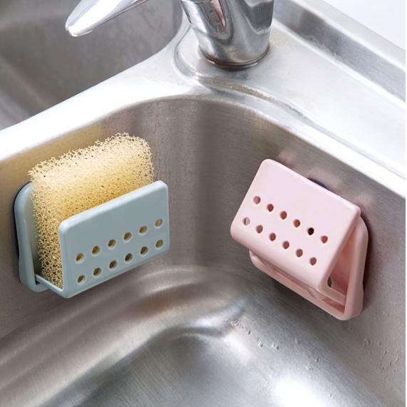 Държач поставка за домакинска гъба за чинии стойка органайзер с вакуум