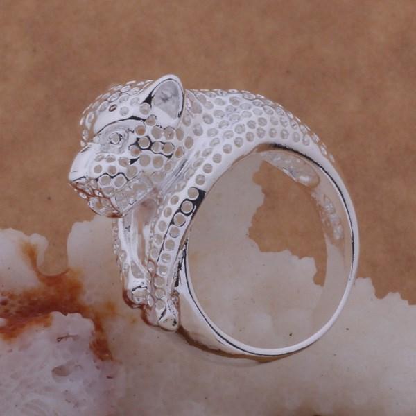 Масивен дамски пръстен Леопард Сребърно покритие 925