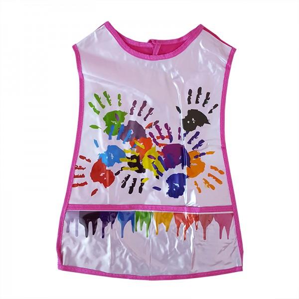 Детска престилка за рисуване с джобчета PVC за деца 4-7 години