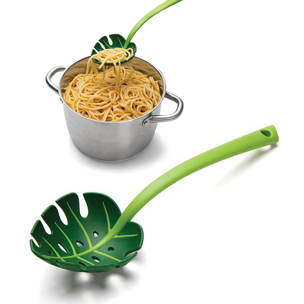 Лъжица за спагети Зелено листо лъжица за салата сервиране