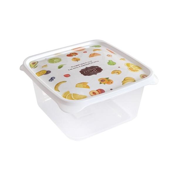 Пластмасова прозрачна кутия с капак за съхранение на храна 500ml