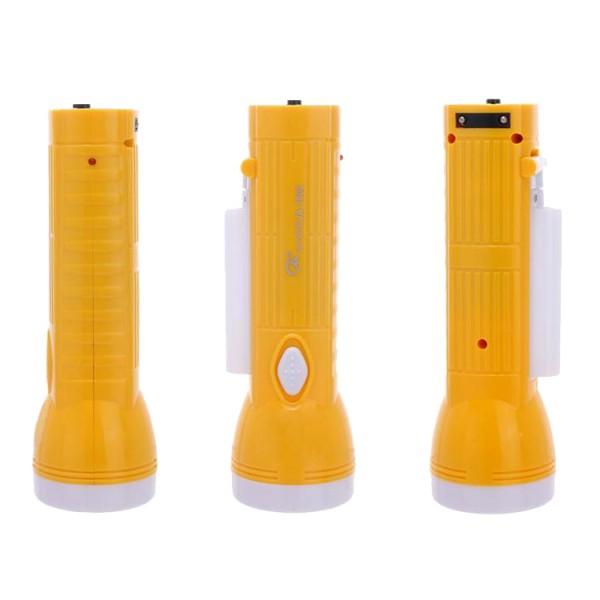 LED фенер с чупеща глава зареждане на ток 1W LED+10SMD Led 100LUMENS