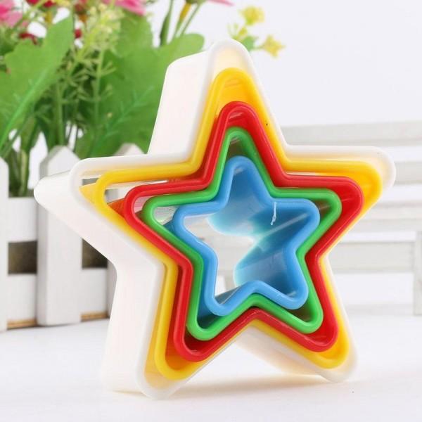 Форми за сладки звезда резци за тесто формички звезди 5бр в комплект