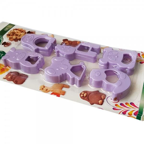 Формички за сладки животни резци за тесто Комплект от 6 броя