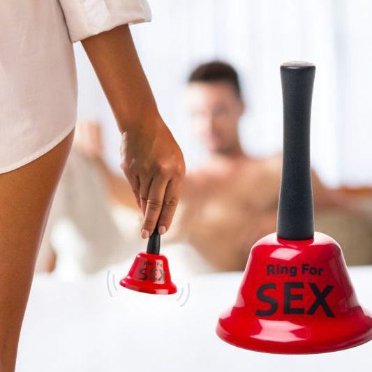 Забавен метален звънец камбанка с надпис Ring for sex подарък за Свети Валентин