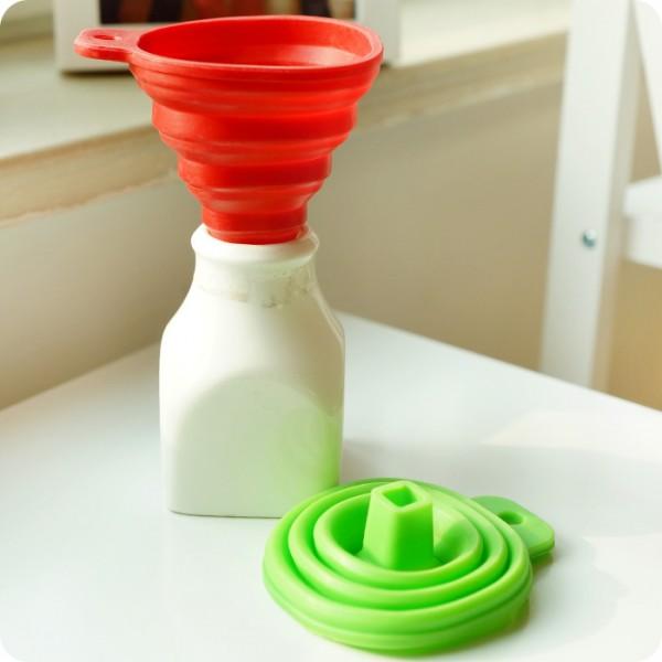 Кухненска сгъваема силиконова фуния