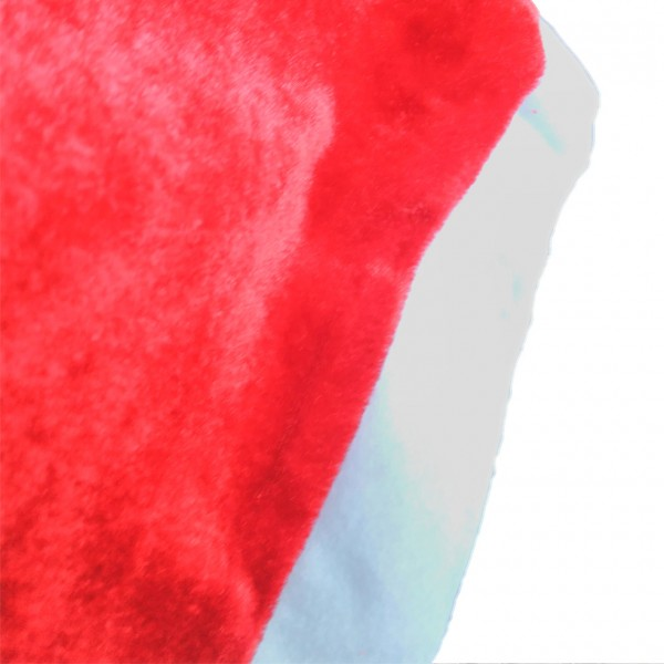 Класическа плюшена коледна шапка 29x41см