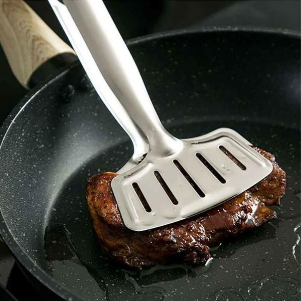 Двойна шпатула за скара широка щипка за сервиране и готвене
