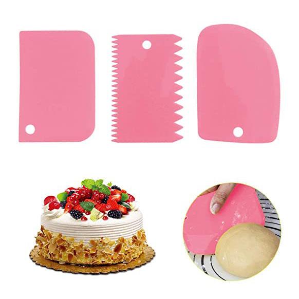 Комплект сладкарски шпатули за декорация и заглаждане на торти 3 броя