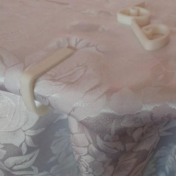 Бели пластмасови щипки за покривка за маса против повдигане от вятъра