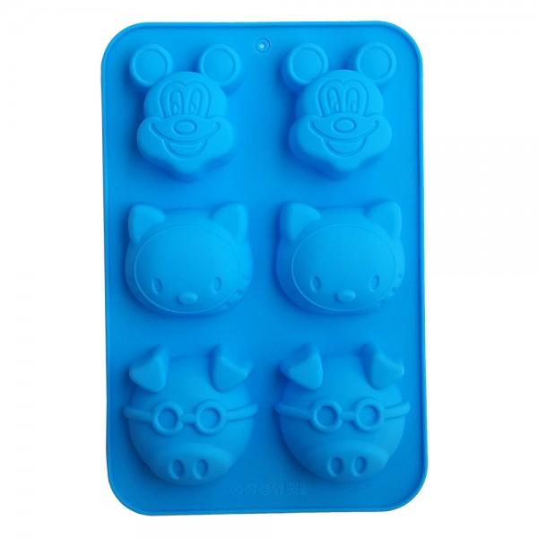 Силиконова форма за мъфини кексчета с дисни герои Мики Маус Кити Прасе