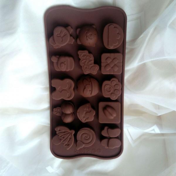 Силиконова форма за коледни шоколадови и желирани бонбони