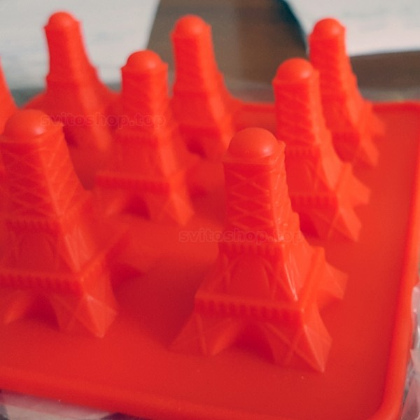Силиконова форма за шоколад Айфелова кула форми за бонбони