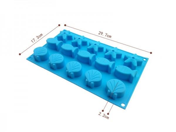 Силиконова форма за бонбони и дребни сладки морско дъно