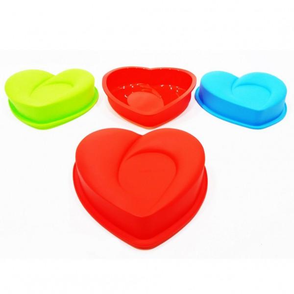 Силиконова форма за кекс сърце