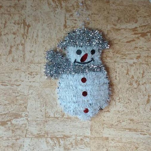 Коледна украса за стена снежен човек 32 x 19cm