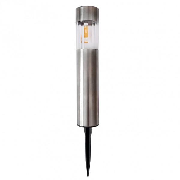 Градинска соларна лампа цилиндрична бяла светлина