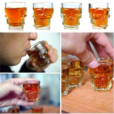 Стъклени шот чаши череп чашки за ракия 4бр/компл. шотове нестандартни чаши