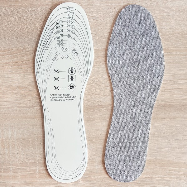Антибактериалнаи стелки за обувки унисекс синтетичен лен 36-46 номер