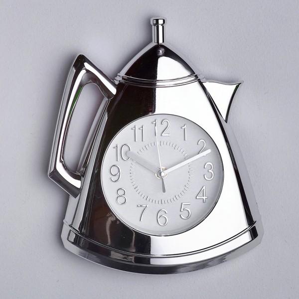 Модерен кухненски часовник Чайник сребрист