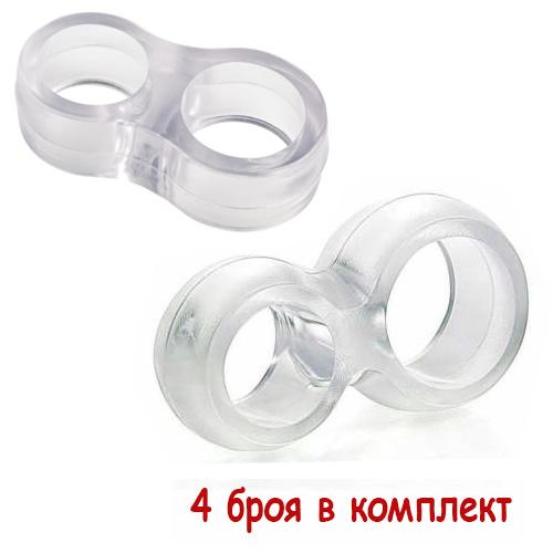 Прозрачен стопер за дръжка на врата 4 броя в комплект