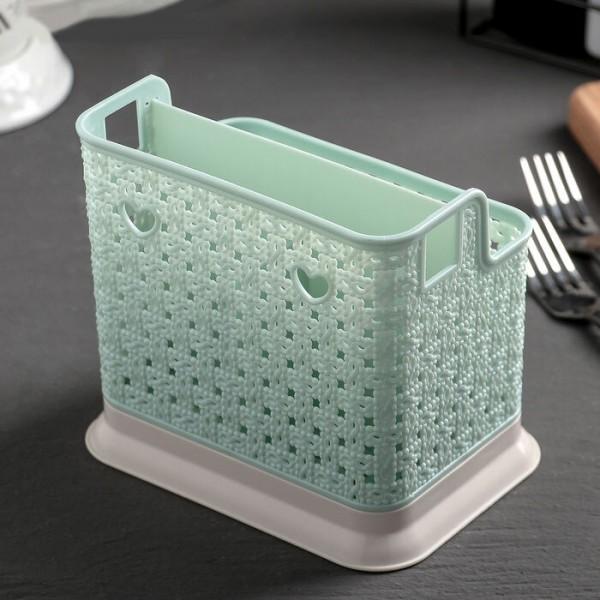 Пластмасов сушилник за прибори поставка за вилици лъжици