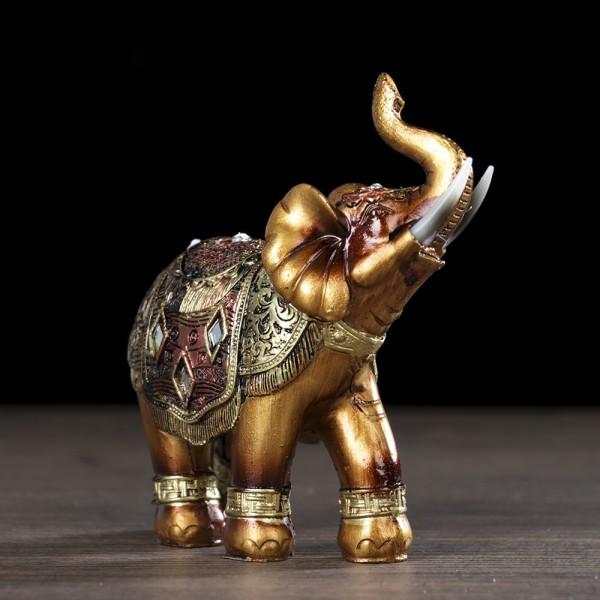 Сувенир слончета с бивни статуетки 2 фигурки слончета за късмет 11x10cm