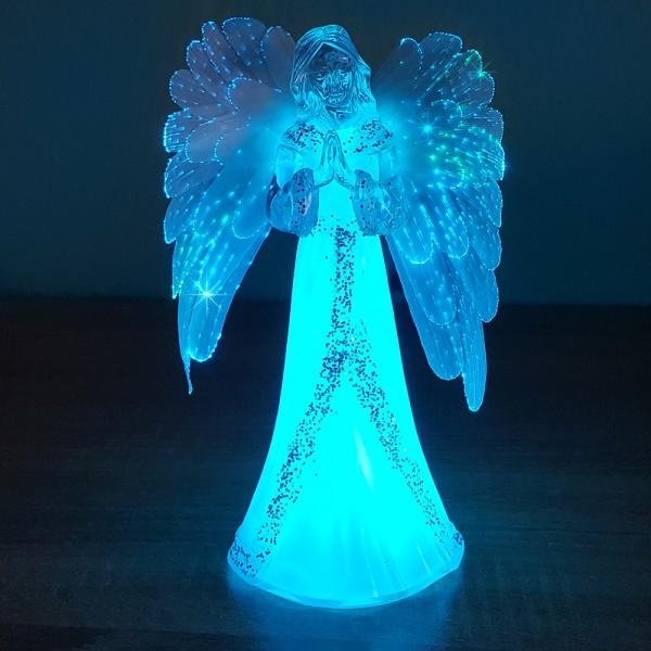 Коледен светещ ангел коледна украса 22см