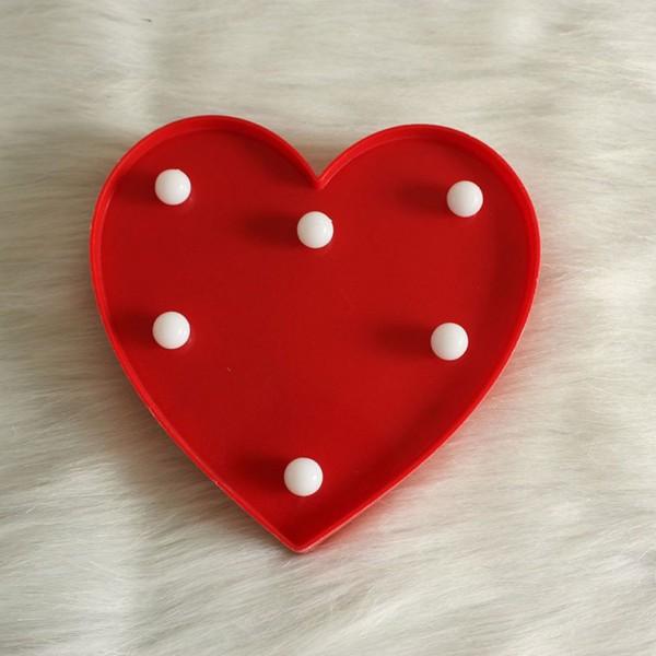 Светещо сърце декорация за стена украса за Свети Валентин 16см