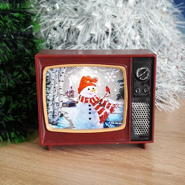 Светещо ретро телевизорче коледна украса