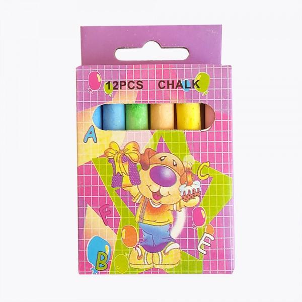 Цветни тебешири за рисуване и писане 12 броя в кутия