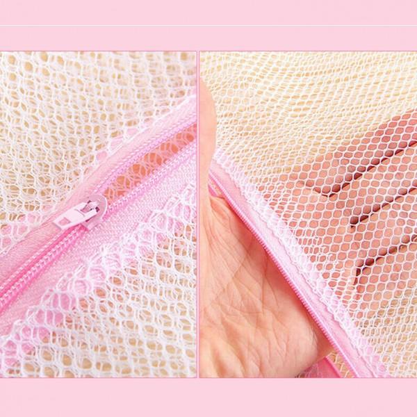 Мрежа за пране на дрехи мрежести пликове с цип за пране 30x40cm