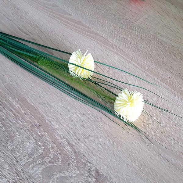 Изкуствен стрък карамфили за аранжиране и декорация 74см