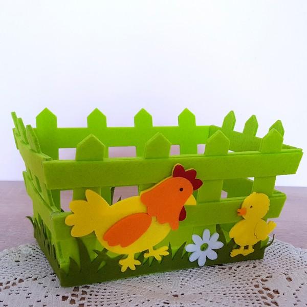 Панер за великденски яйца и лакомства украса за Великден декорация