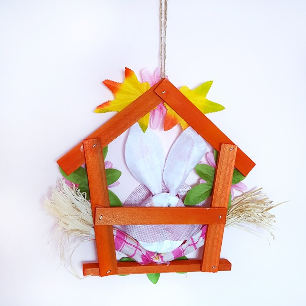Декоративна табелка за врата великденски заек украса за стена