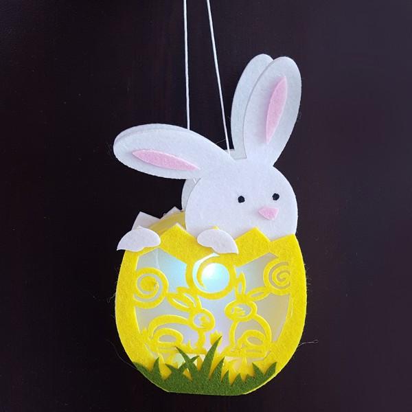 Светещо великденско зайче украса за Великден