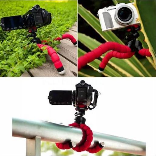 Мини стойка трипод за смартфон и фотоапарат гъвкав селфи стик