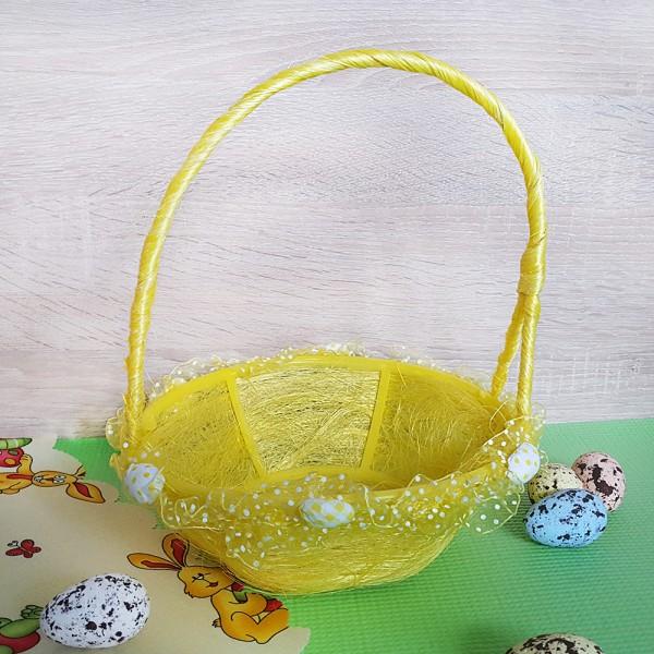 Декоративна великденска кошница с дантелка