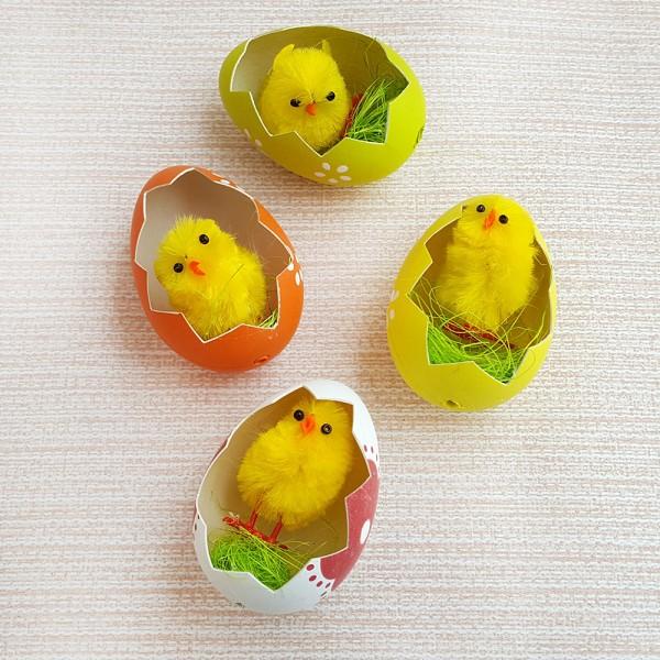 Великденско пиленце в черупка комплект от 4 броя