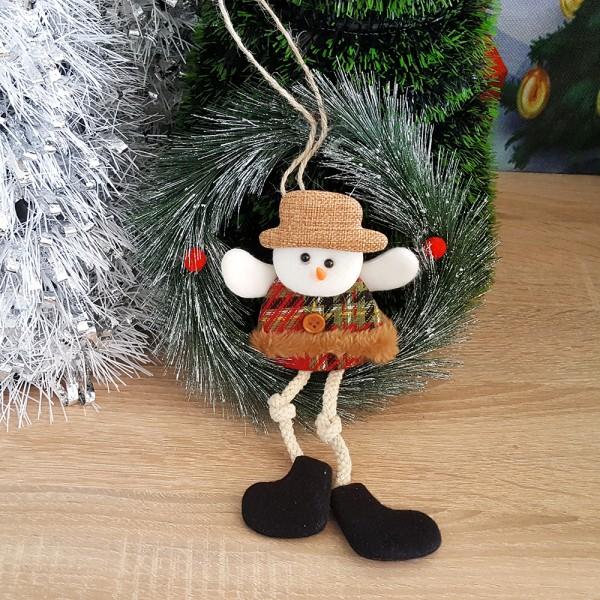 Коледен венец за врата Снежко 20см