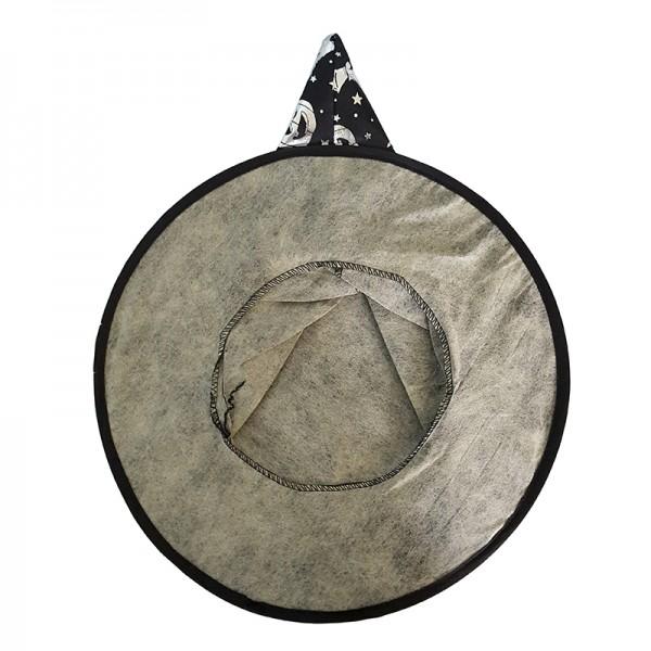 Плътна черна вещерска шапка с паяжини парти Хелоуин шапка