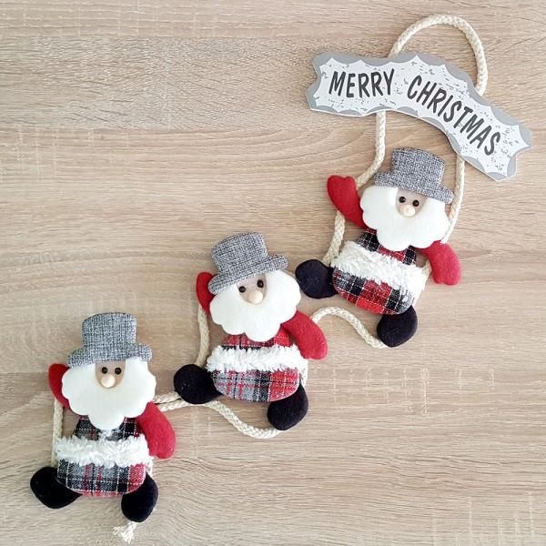 Висяща коледна украса за стена с табелка Merry Christmas 63cm