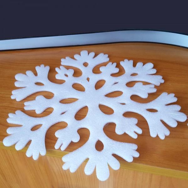 Висяща коледна украса снежинки за окачване 3 броя в комплект