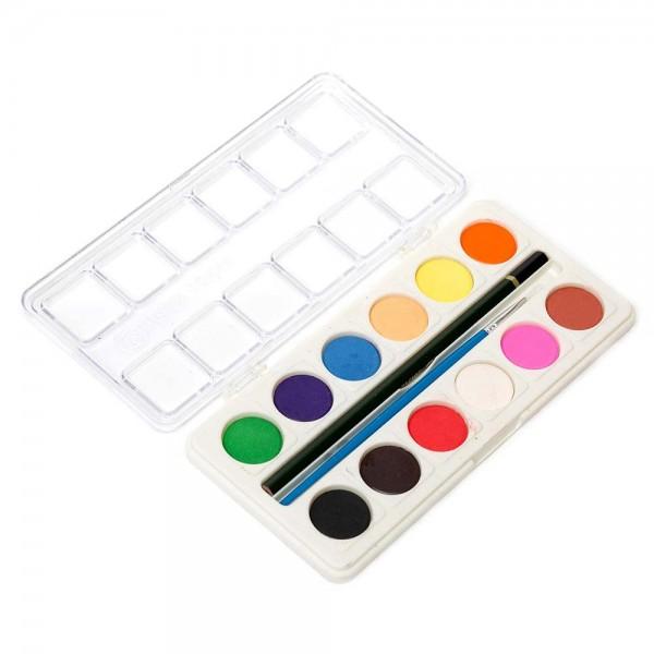 Водни бои за рисуване с четка и молив 12 цвята